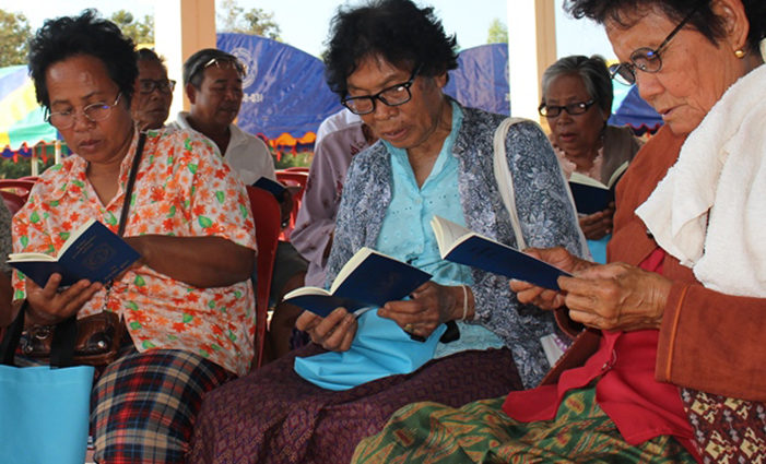 Thai Women reading Luther's Small Catechism