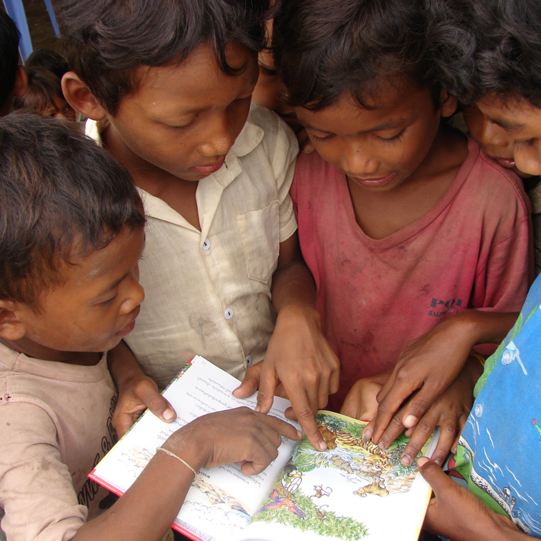 Children Reading A Child's Garden of Bible Stories