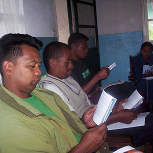 Madagascar: Reading LHF's translation of Luther's Small Catechism.